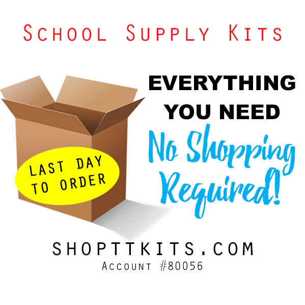 Order School Supply Kits by May 29