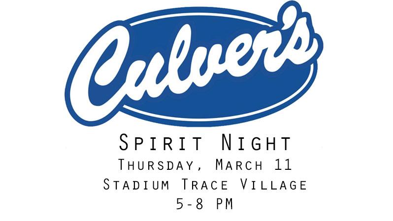 Culver's Spirit Night – March11