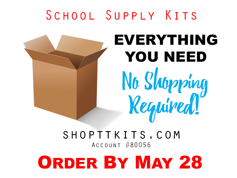 School Supply Kits – On Sale Now